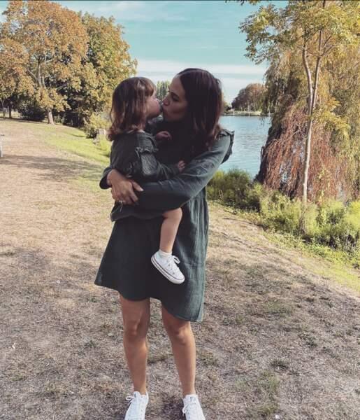 Tiffany que l'on retrouve la semaine prochaine dans Mamans et célèbres était avec sa  fille