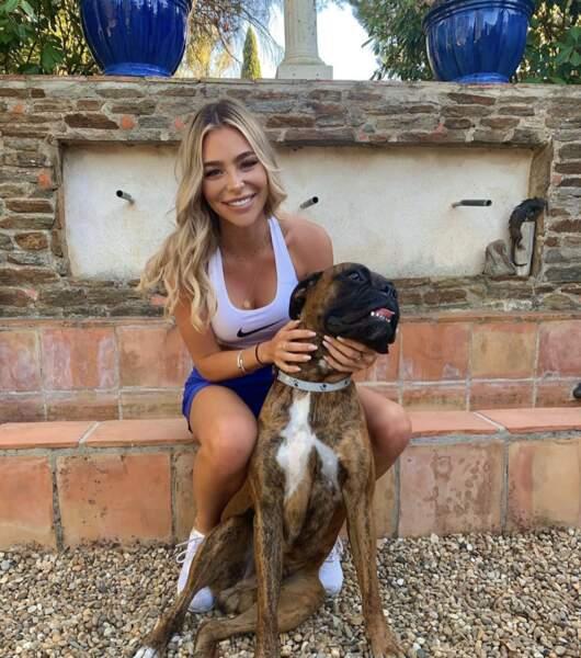 La photo de Kellyn avec son chien a fait fureur sur Instagram