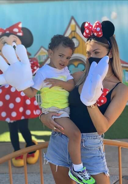 Mélanie Da Cruz, a, quant à elle, passé une superbe journée à Disney