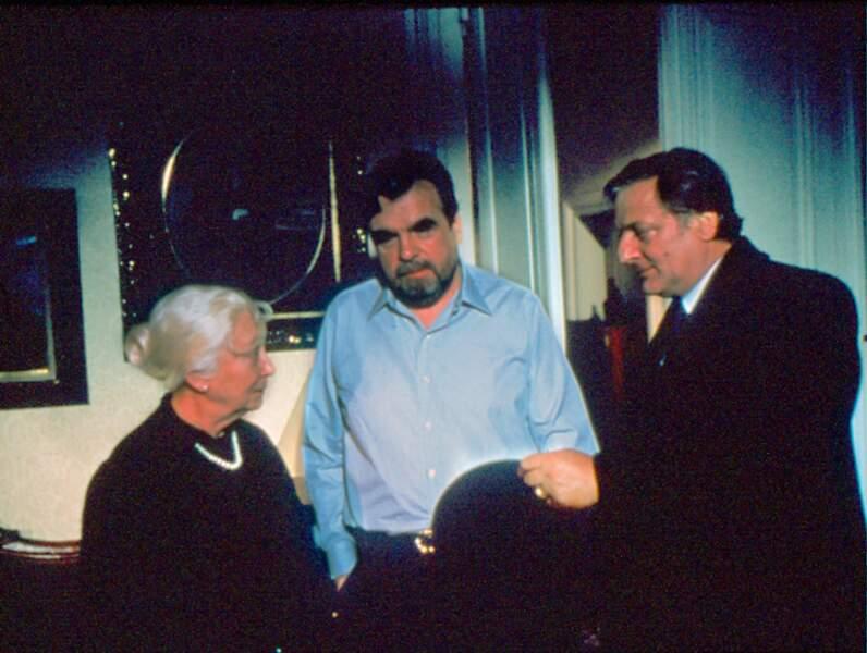 """Michael Lonsdale a beaucoup tourné pour la télévision; ici avec Bruno Cremer dans un Maigret en 1991 (""""Maigret et la grande perche"""")"""
