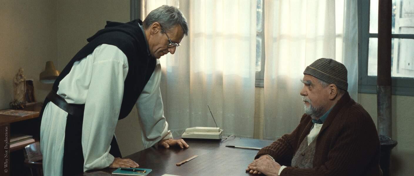 """Avec Lambert Wilson dans """"Des hommes et des dieux"""" de Xavier Beauvois en 2010"""