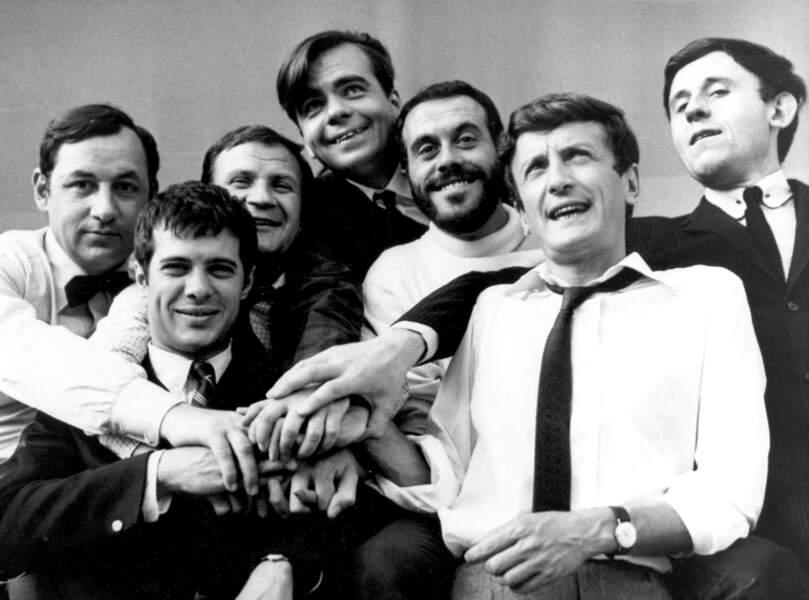 """Michael Lonsdale dans un film qui porte bien son nom : """"Les copains"""", réalisé en 1964 par Yves Robert, avec Guy Bedos, Claude Rich, Philippe Noiret, Pierre Mondy ..."""