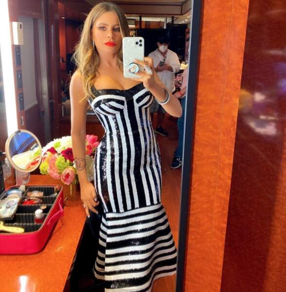 Un peu de sexy avant de nous quitter : joli robe moulante pour Sofia Vergara.