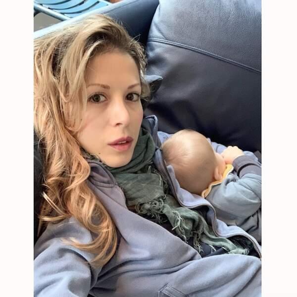 Selfie mère-fils pour Tristane Banon et Ethan.