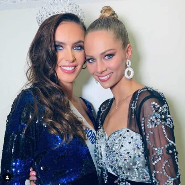 Laura Cornillot  (à gauche) succède à Florentine Somers au titre de Miss Nord-Pas-de-Calais