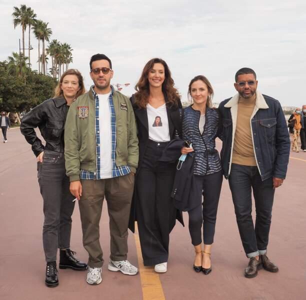 """Le casting de """"La Flamme"""" avec Celine Sallette, Jonathan Cohen, Doria Tillier, Camille Chamoux et Youssef Hagji"""