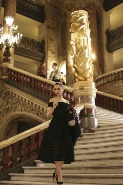 Silhouette de star sur les marches du grand escalier de l'Opéra Garnier