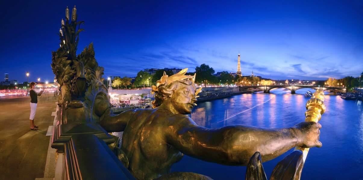 Sublime point de vue sur la Seine