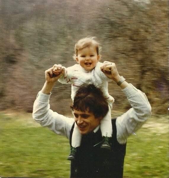 La petite Laure et son papa, il y a quelques années...
