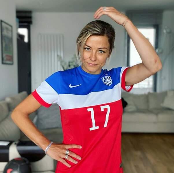 Si elle a défendu le maillot des bleus, elle reconnaît la beauté d'une autre tunique tricolore