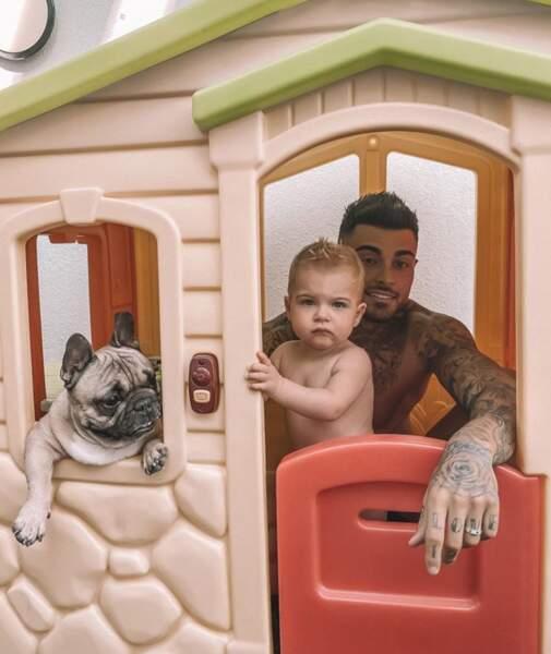 Bienvenue dans la cabane au fond du jardin du petit Maylone, fils de Thibault Garcia et Jessica Thivenin.