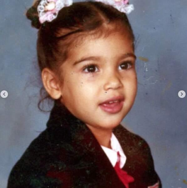 Et Kim Kardashian, ici en version miniature, soufflait 40 bougies la veille.