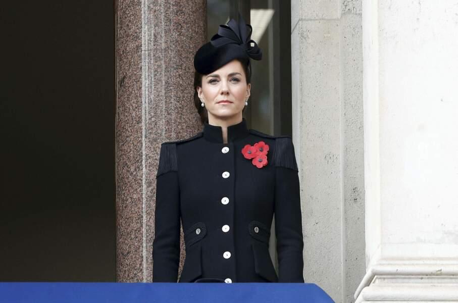 Kate Middleton majestueuse lors du Remembrance Sunday