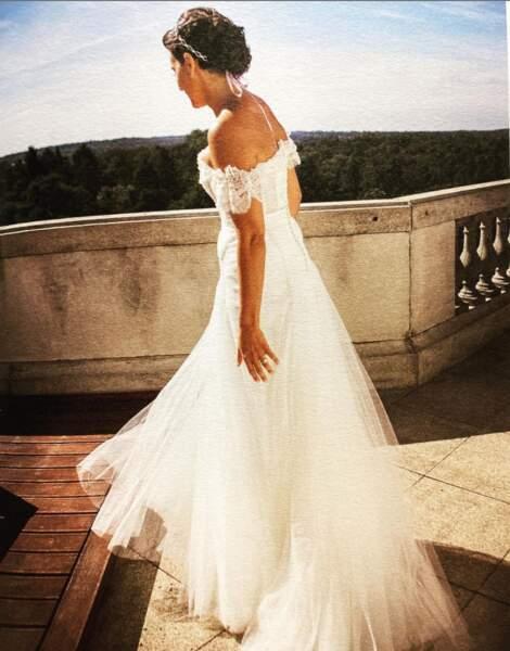 Faustine Bollaert était ravissante dans sa robe de mariée en 2012