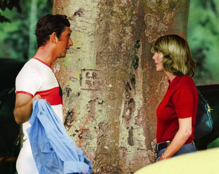 Ici le vrai couple se retrouve après un match de Polo