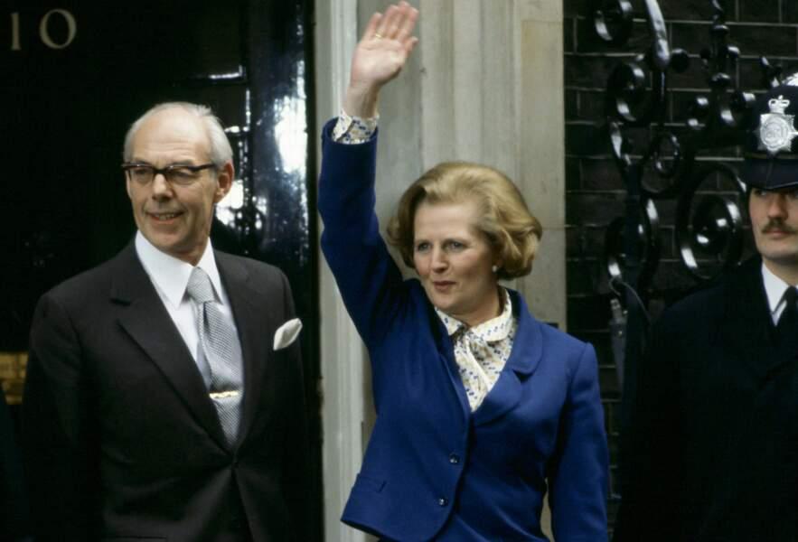 Ici la nouvelle ministre accompagnée de son mari Denis après sa victoire.