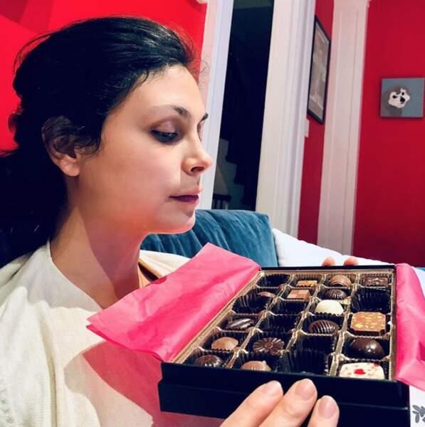 Et que vous trouvez du réconfort quand ça ne va pas trop. L'actrice Morena Baccarin, elle, a du chocolat.