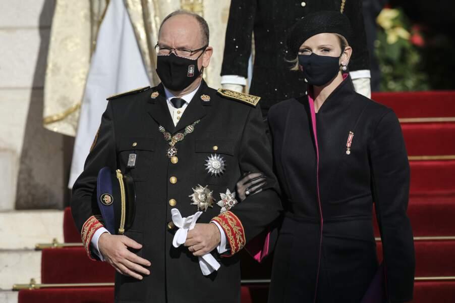 Albert II et la princesse Charlène débutent cette fête nationale par la traditionnelle messe