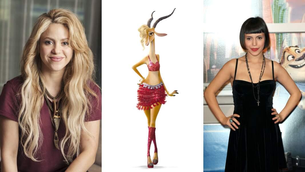 Concernant Gazelle, c'est Shakira et Lubna Gourian (Plus Belle la vie, Baron Noir) qui lui ont prêté leurs cordes vocales