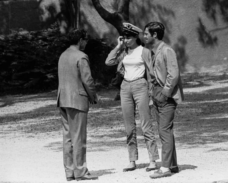 """Nouvelle collaboration avec Jean-Paul Belmondo pour """"Pierrot le fou"""" en 1965. Godard dirige aussi sa muse et compagne, Anna Karina."""