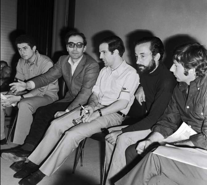 En mai 1968 c'est la fronde au Festival de Cannes: Jean-Luc Godard entouré de Claude Lelouch, François Truffaut, Louis Malle et Roman Polanski, feront arrêter le Festival.