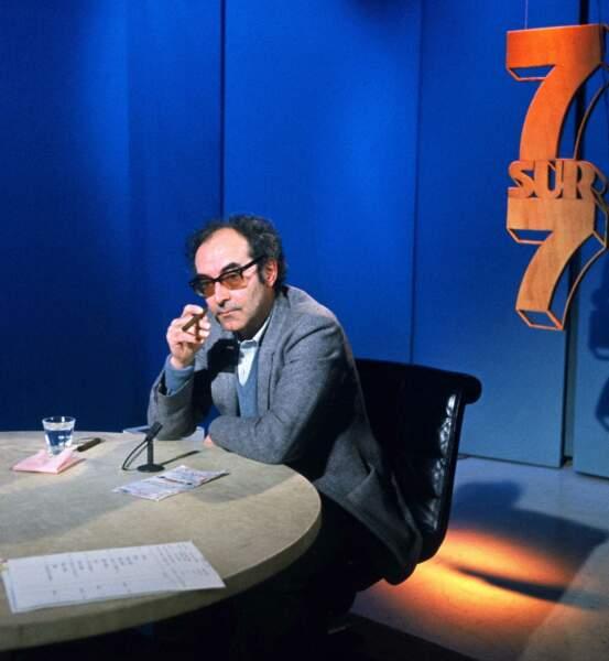 """En 1983 Jean-Luc Godard est l'invité de l'émission politique de TF1 """"7 sur 7""""."""