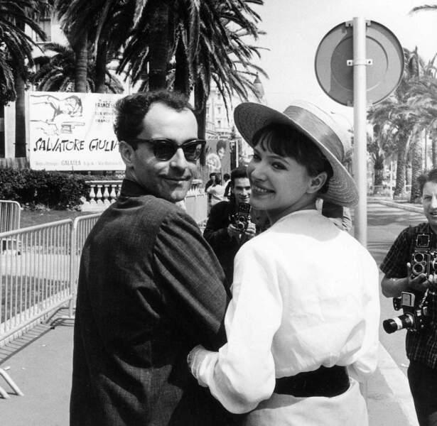 Mariés en 1961, Jean-Luc Godard et Anna Karina seront l'un des couples vedettes de la Nouvelle Vague. Ici à Cannes en 1962.