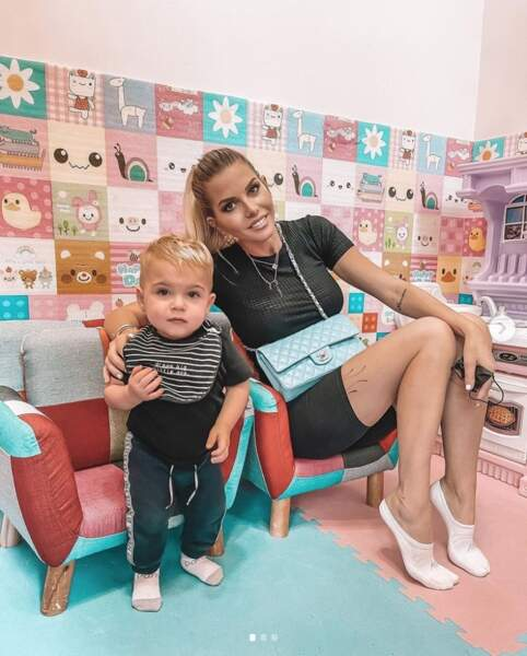 Moment complice entre Jessica Thivenin et son fils Maylone