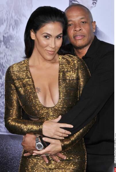 """Dr Dre & Nicole Young Pour des """"différences irréconciliables"""" la femme du célèbre rappeur à demandé le divorce après 24 années  de mariage."""