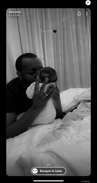 Le célèbre rappeur gaga de son 4eme enfant, une petite Haby née le 19 mars.