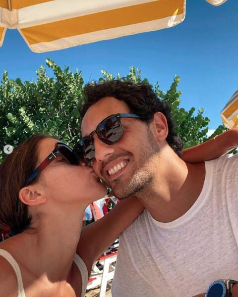 Un petit bisou pour Diego El Glaoui de la part de sa chérie Iris Mittenaere.