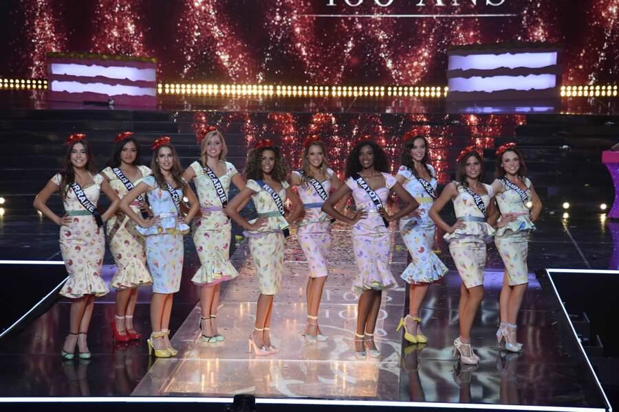 Deuxième tableau pour nos Miss régionales. Cette fois-ci, c'est la gastronomie qui inspire les tenues de ces dix jeunes femmes !
