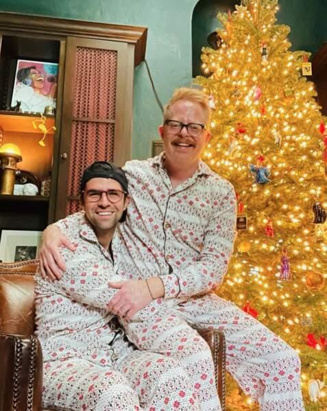 Pyjamas assortis pour Jesse Tyler Ferguson, alias Mitchell dans Modern Family, et son mari Justin Mikita