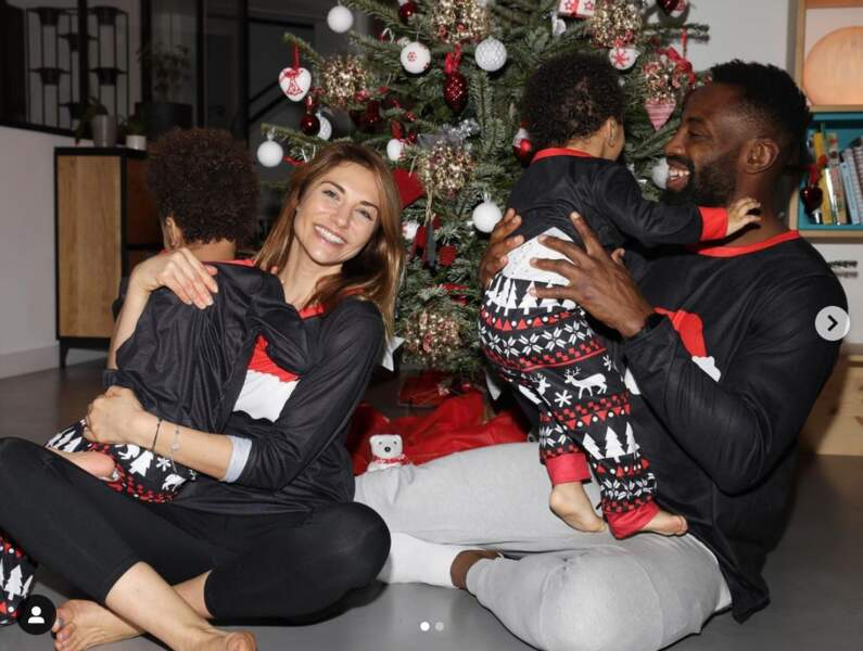 Ariane Brodier avec son chéri, le rugbyman Fulgence Ouedraogo, et leurs enfants Paulin et Perine