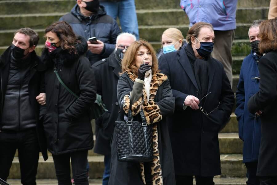Nicole Calfan assiste aux Obsèques de Claude Brasseur en l'Eglise Saint Roch à Paris le 29/12/2020