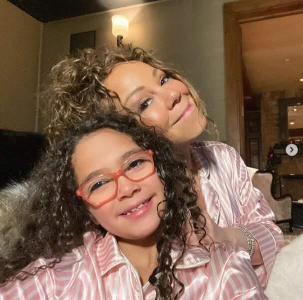 Soirée mère-fille pour Mariah Carey et l'adorable Monroe.
