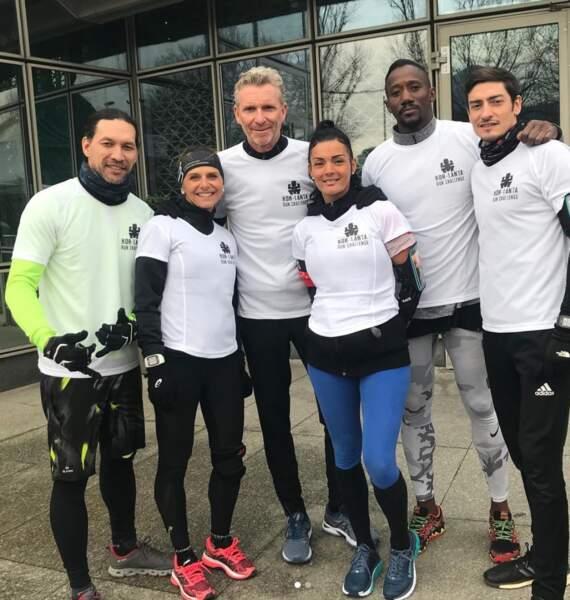 Denis Brogniart a relevé un défi sportif avec les héros de Koh-Lanta : Claude, Moussa, Sara, Jessica et Teheiura
