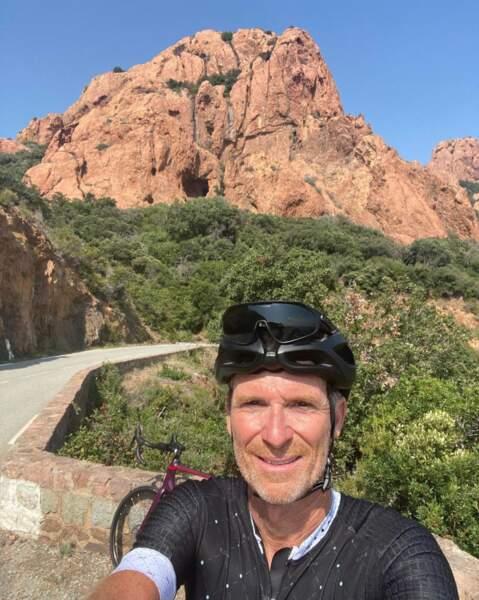 Sur son vélo, il ne compte pas ses kilomètres comme ici... 80 km au compteur !