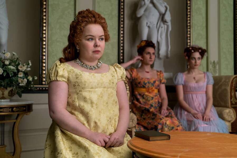 L'un des personnages les plus attachants de cette Chronique des Bridgerton ? Penelope Featherington, la meilleure amie de Eloise, secrètement amoureuse de Colin.