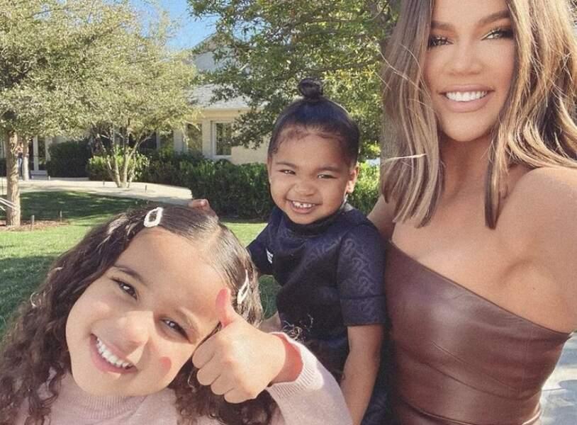 Trois Kardashian pour le prix d'une : Khloé, Dream et True.