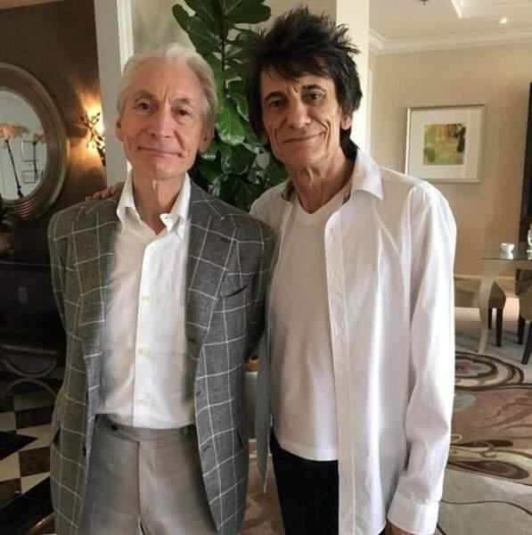 Deux Rolling Stones pour le prix d'un : Charlie Watts et Ronnie Wood.