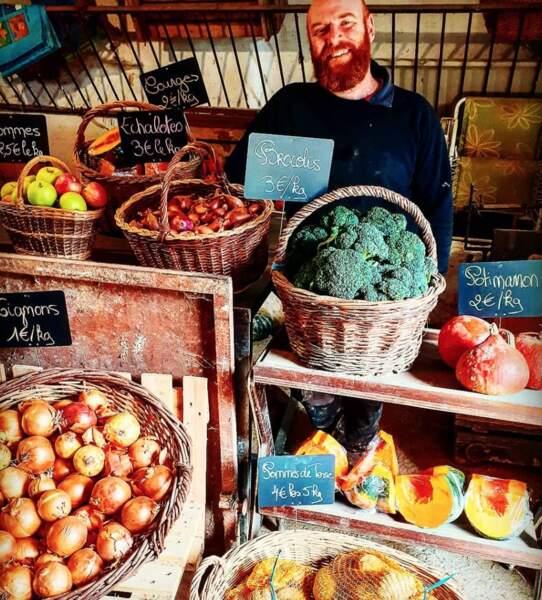 On découvre aussi la nouvelle boutique de légumes qui a été lancée à la ferme