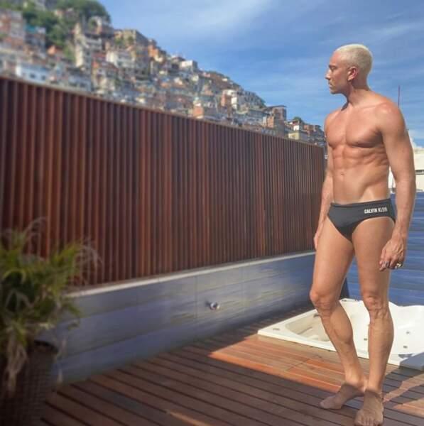 Maxime Dereymez, actuellement au Brésil, avait enfilé son plus beau slip.