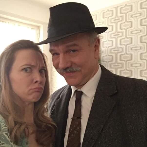Petit aperçu des costumes sur le nouveau tournage d'Odile Vuillemin et de son acolyte Aurélien Recoin.