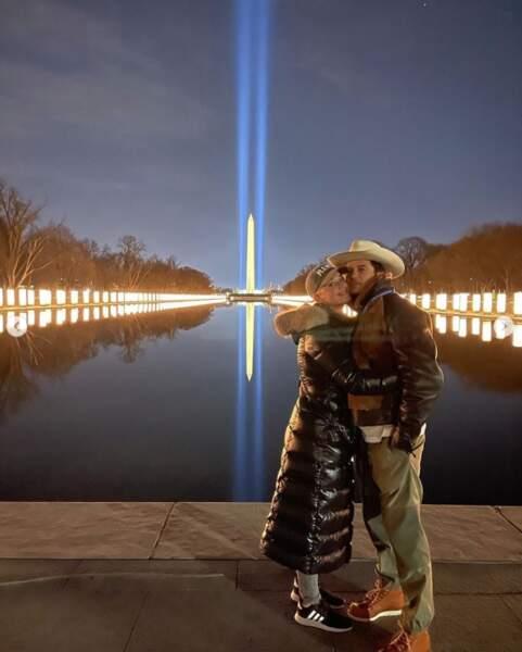 Katy Perry et Orlando Bloom à Washington pour célébrer le début de la présidence de Joe Biden.