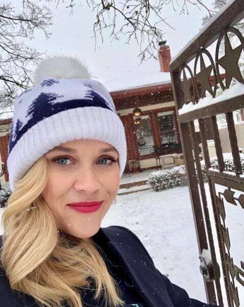 Selfie sous la neige pour Reese Witherspoon.