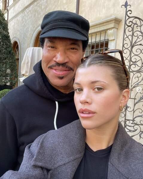 Sofia Richie a posé avec son papa, Lionel.