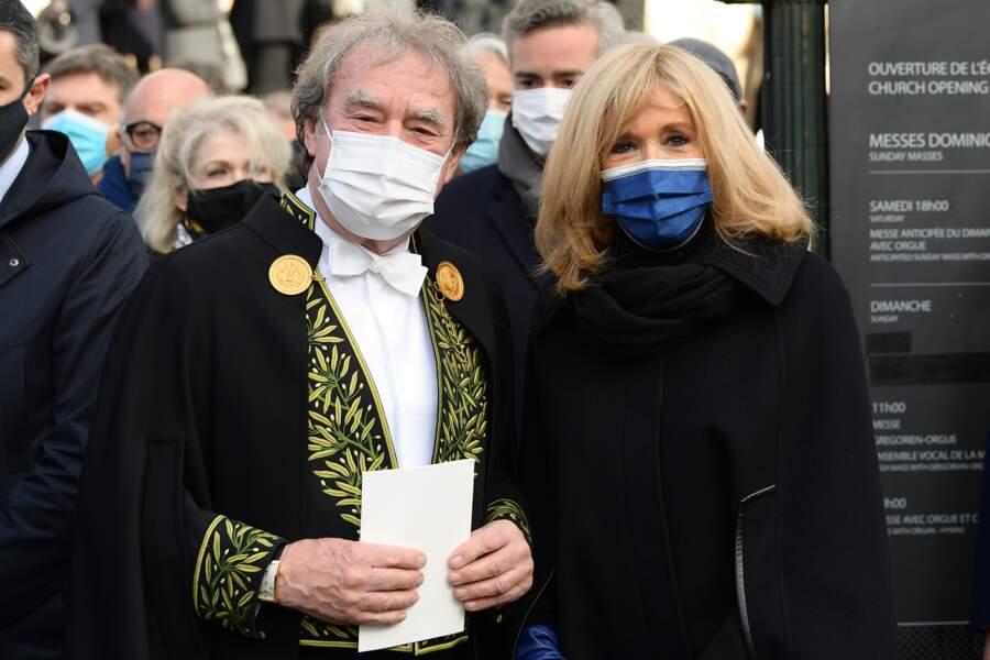 Jean-Michel Wilmotte et Brigitte Macron.