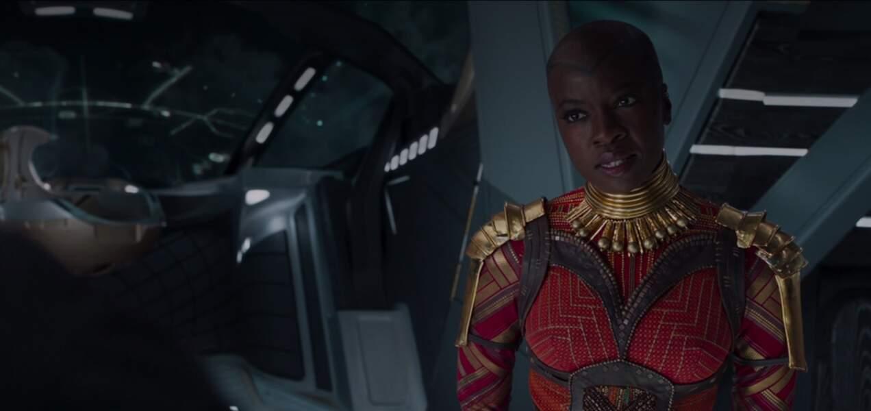 En 2018, elle se meut une fois de plus en guerrière et donne la réplique à Chadwick Boseman dans Black Panther