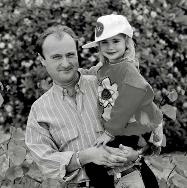 Lily Collins et son papa, Phil.
